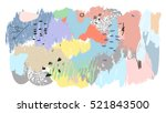 abstract creative hand drawn... | Shutterstock .eps vector #521843500