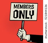 poster in hand  business... | Shutterstock .eps vector #521844136
