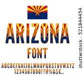 Arizona Usa State Flag Font....