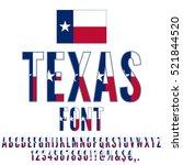 Texas Usa State Flag Font....