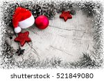 christmas hat with red ball and ...   Shutterstock . vector #521849080