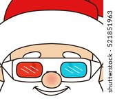 close up of smiling santa claus.... | Shutterstock .eps vector #521851963