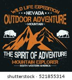 mountain explorer  outdoor... | Shutterstock .eps vector #521855314