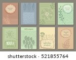 vector set of eco nature labels ... | Shutterstock .eps vector #521855764