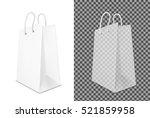 transparent shopping paper bag. ... | Shutterstock .eps vector #521859958