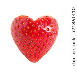 Strawberry Heart Isolated On...