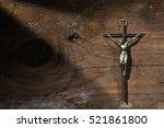 crucifixion of jesus christ  ... | Shutterstock . vector #521861800