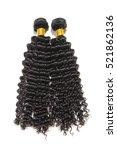 black kinky curly human hair... | Shutterstock . vector #521862136