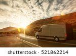 delivery van on a country road | Shutterstock . vector #521862214