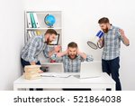 young bearded business man... | Shutterstock . vector #521864038