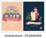 cute christmas cards  family... | Shutterstock .eps vector #521866984