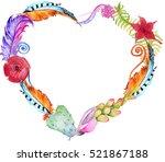 succulent plants  cactus   red... | Shutterstock . vector #521867188