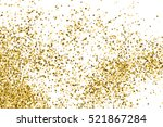 gold glitter texture isolated... | Shutterstock .eps vector #521867284
