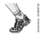 sneakers icon in monochrome... | Shutterstock . vector #521868718