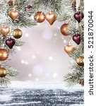 christmas holiday background... | Shutterstock . vector #521870044