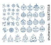 christmas season vector... | Shutterstock .eps vector #521872018