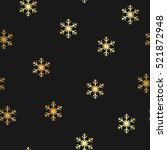 elegant christmas pattern with... | Shutterstock .eps vector #521872948