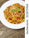a dinner dish full of tomato...   Shutterstock . vector #521875960