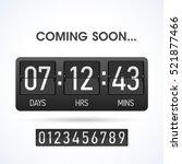 coming soon countdown website...   Shutterstock .eps vector #521877466