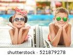 little kids lying on deck...   Shutterstock . vector #521879278