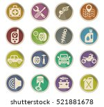 car shop web icons on color... | Shutterstock .eps vector #521881678