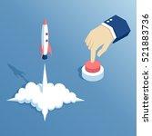 isometric hand presses the... | Shutterstock .eps vector #521883736