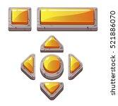 orange cartoon stone buttons...