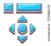 blue cartoon stone buttons for...
