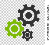 gear mechanism icon. vector... | Shutterstock .eps vector #521890258