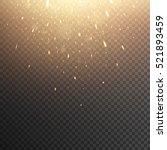 falling fiery sparks. glowing... | Shutterstock .eps vector #521893459