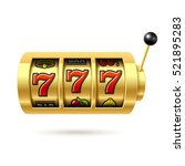 slot machine with lucky sevens... | Shutterstock .eps vector #521895283
