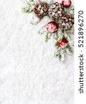 christmas decoration. branch... | Shutterstock . vector #521896270