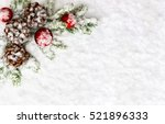 christmas decoration. branch... | Shutterstock . vector #521896333