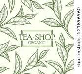 organic green white black tea... | Shutterstock .eps vector #521896960