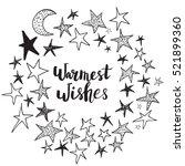 christmas card template. hand... | Shutterstock .eps vector #521899360