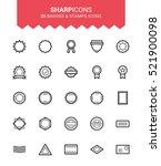 minimalistic thin line badges   ...   Shutterstock .eps vector #521900098