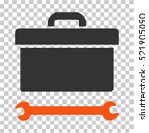 toolbox icon. vector pictograph ... | Shutterstock .eps vector #521905090