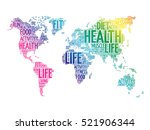 health and life world map in... | Shutterstock .eps vector #521906344