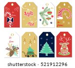 christmas gift tags and labels. ... | Shutterstock .eps vector #521912296