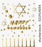 happy hanukkah greeting card....   Shutterstock .eps vector #521914054