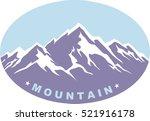 emblem of mountain climbing.... | Shutterstock .eps vector #521916178