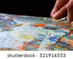art painting with palette knife | Shutterstock . vector #521916553