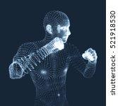 boxer. fighting man. 3d model... | Shutterstock .eps vector #521918530