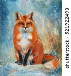 Drawn Fox Animal