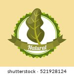 seal stamp with spinach... | Shutterstock .eps vector #521928124