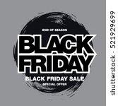 black friday sale banner | Shutterstock .eps vector #521929699