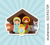 holy family. traditional... | Shutterstock .eps vector #521931739