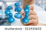 businessman using a pen to... | Shutterstock . vector #521933653