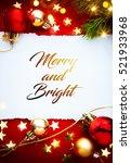 art red christmas holidays... | Shutterstock . vector #521933968