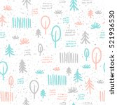 spruce seamless background.... | Shutterstock .eps vector #521936530